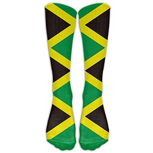 ouyjian Jamaica Flag Long Socken Women's Personalized Cute Over The Knee Thigh High Stockings Cosplay Socken