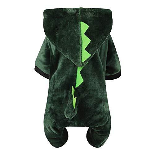 Für Katze Kostüm Den Menschen Hunde Und - Gysad Dinosaurier-Kostüm für Hunde und Katzen, warm, für Herbst und Winter, mit Kapuze, für kleine und mittelgroße Hunde und Katzen, Größe XS