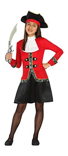 n, Mädchenkostüm, Größe 128 (Piratas Disfraz Halloween)