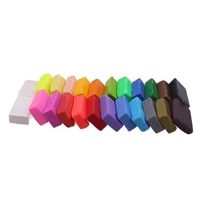 SODIAL(R) El color mezclado del 24 Soft Sculpey para hornear del horno la arcilla del polimero Modelado Moulding Bloquear