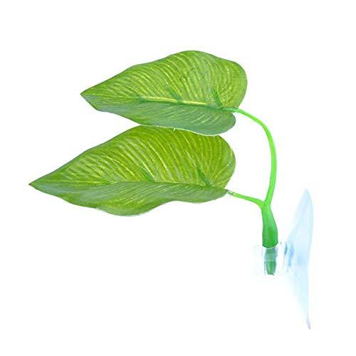 ghfashion Doppelschichtige künstliche Pflanze Betta Rest Blatt Hängematte Fischtank Laichunterlage Bett Aquarium Dekoration