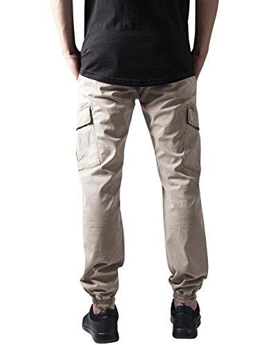 Urban Classics Washed Cargo Twill Jogging Pants, Pantalon Homme Ecru - Elfenbein (sand 208)