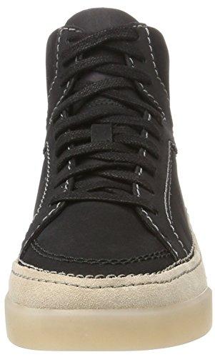 Clarks Hidi Haze, Sneakers Hautes Femme Noir (Black Nubuck)
