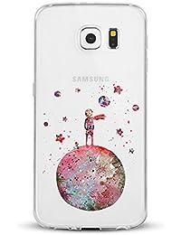 Caler Funda Samsung Galaxy S7 Caso Slim Cases Carcasa Patrón Cáscara Cover Case Flexible TPU Adorable Caprichoso Protección para…