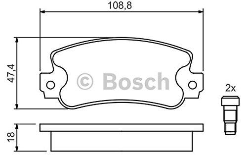 Bosch 09864240984X Pastiglie Freno Anterio