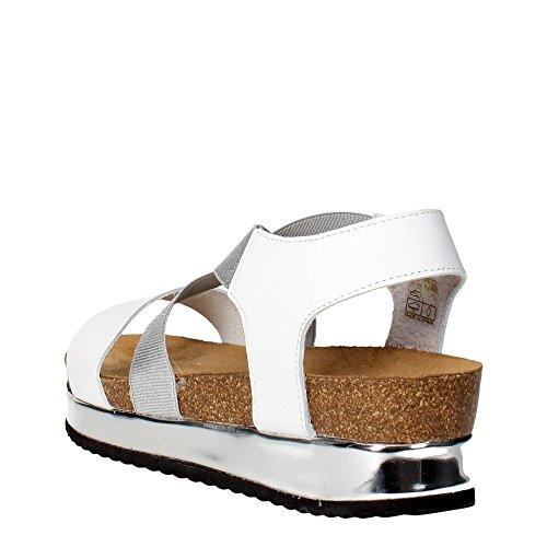Grunland SB0674-31 Sandale Femme Cuir Blanc Blanc