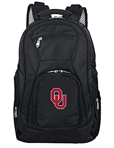 Mojo Unisex NCAA Oklahoma Sooners Voyager Laptop Backpack Inches, Black, 19