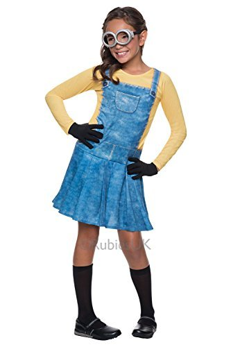 Imagen de rubies niña gru, mi villano favorito mujer minion disfraz película traje  talla  mediana  m  5 7 años