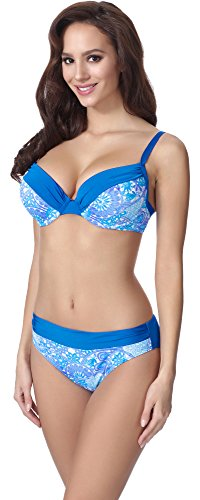 Merry Style Damen Push Up Bikini F21 (Muster-309, Cup 75D / Unterteil 38)