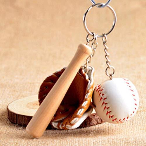 htrdjhrjy Smart Neu Spezial Baseballkappe Anhänger Vergoldet Schlüsselanhänger in Feinem Stil - Braun