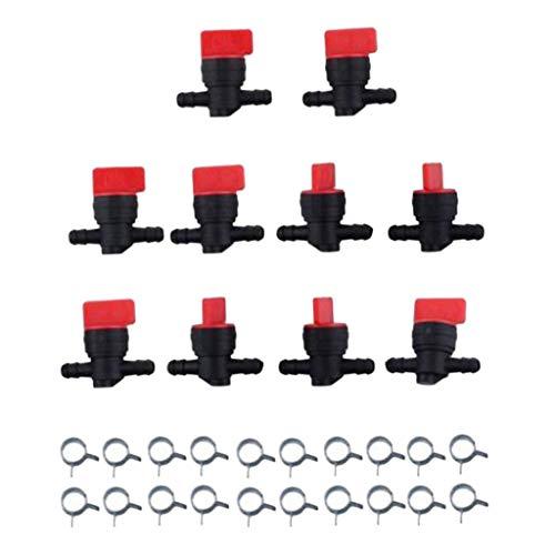 FutuHome 10x 1/4 InLine Benzinabsperrventil Für Kleine Motorventile
