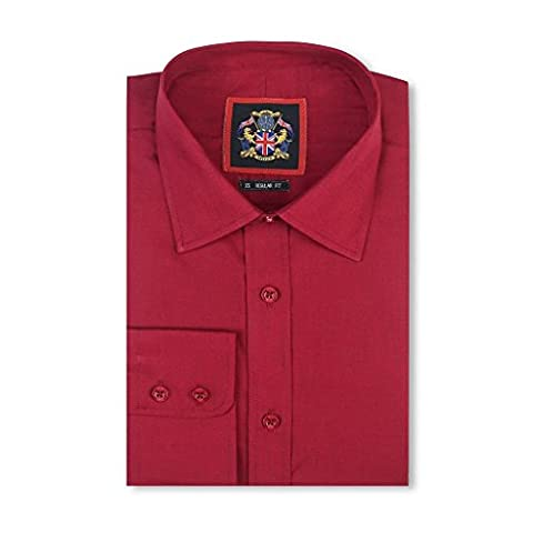 Janeo British Apparel Branded, Classic London Plains Shirt, Double Cuff