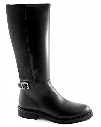 FRAU 96P3 nero scarpe donna stivalI cavallerizza elastico pelle