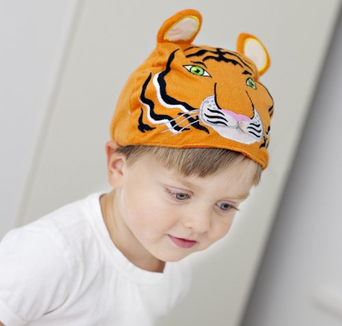 Children Fancy Dress/Dressing Up Tiger Costume/Hat And Tail. Adjustable Fit FROM 1 Year + Mütze/Hut