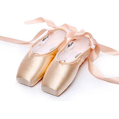 DANYCU Ballet Punta Zapatos de Raso Profesional de Las Muchachas Zapatos de Las señoras de la Bailarina...
