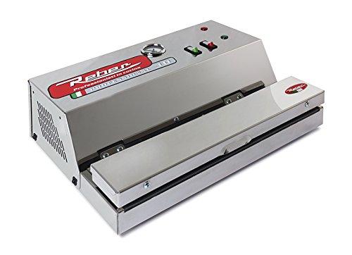 Reber 9709 NE Apparecchio per Confezionamento Sottovuoto Automatico Ecopro 30, 850Mb, 18Lt/Min, Inox, 200W, Grigio