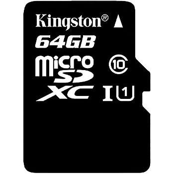 Kingston SDC10G2/64GB microSD Klasse 10 bis zu 45MB/s Speicherkarte (mit SD-Adapter)
