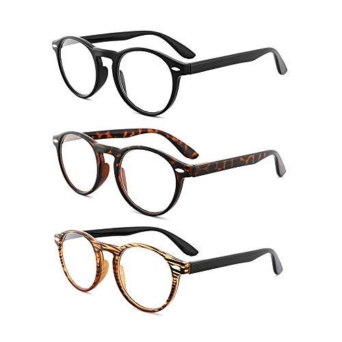 OQ CLUB 3-Pack Unisexo Gafas Lectura Bisagra Resorte