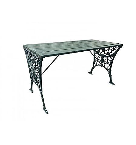 Table bois massif et pieds fer forgé