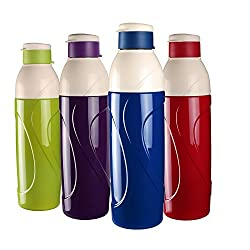 Cello Classic Puro Insulated Plastic Water Bottle (Blue, 900)