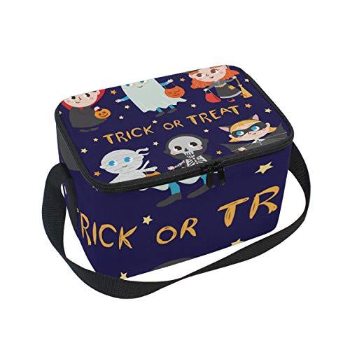 Insulated Lunchpaket Bag Large Cooler Halloween Kids Tote Bag for Men, Women, Girls, Boys ()