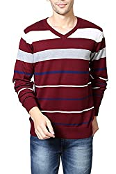 Allen Solly Mens Cotton Sweater (8907308042751_AMSW515G04682_XL_Maroon)
