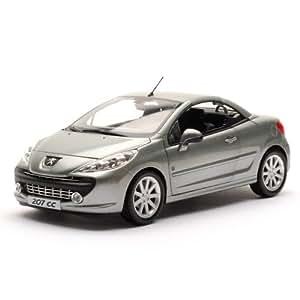 Norev - 184810 - Véhicule Miniature - Peugeot 207 Cc Roland Garros 2008 - Ermitage Gris - Echelle - 1/18e