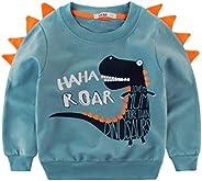Camiseta de Manga Larga para Niño 1-8 Años, Diseño de Dinosaurio