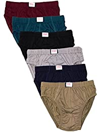 Esteem Boy's Inner Elastics Cotton Briefs - Pack of 6