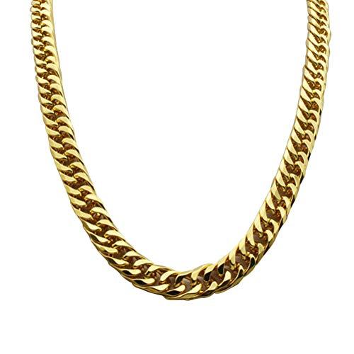 YeahiBaby Faux Goldkette Halskette 90er Jahre Punk Style Halskette Kostüm Schmuck Cuban Gliederkette Hip Hop Umsatz gefälschte Kette Halskette ()