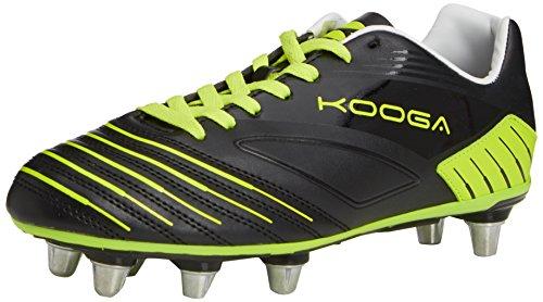 Kooga Advantage, Chaussures de Rugby Homme Noir (black/lime)