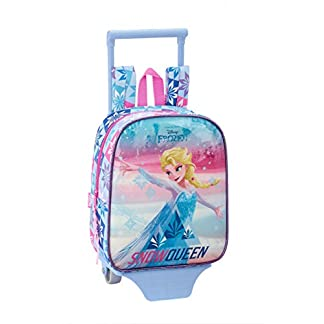 Frozen «Ice Magic» Oficial Mochila Guardería Con Carro Safta, 220x100x270mm