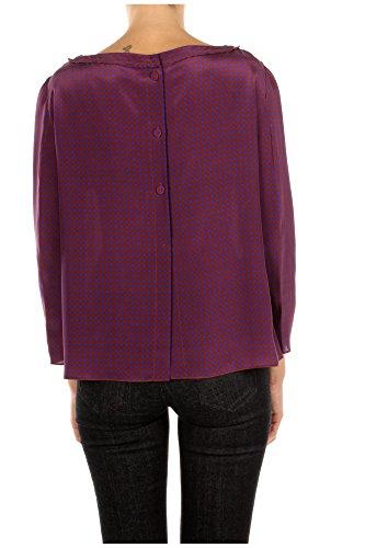 P9866URUGGINEVIOLA Prada Hauts Femme Soie Violet Violet