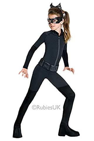 Mädchen Catwoman Maskenkostüm Batman dunkel Ritter Kinder Outfit 8-10 Jahre (Kinder Catwoman-kostüm)