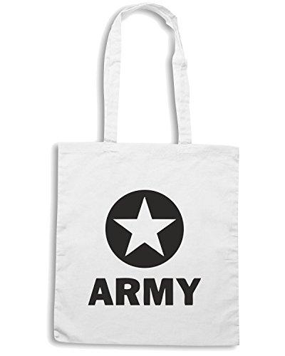 T-Shirtshock - Borsa Shopping TM0514 us army Bianco