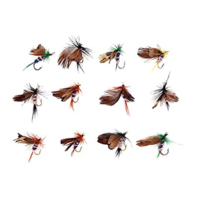 12Pcs Fly Fishing Dry Flies Lure Hooks Artificial Butterfly by Generic