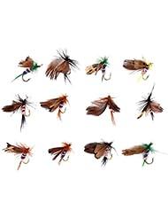 12 pcs Design de Papillon Mouches Artificielles Leurres Accessoires pour Pêche