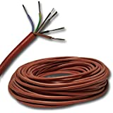 3 Mètre Câble Silicone P. Ex. pour Votre Sauna - Sihf 5x1,5 mm² 3M
