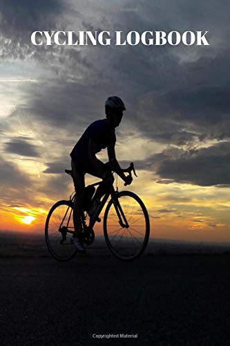 Cycling Logbook: Log All Your Ride Details Such As Distance Time And Weather With Riding At Sunset Cover por Sunny Days Prints