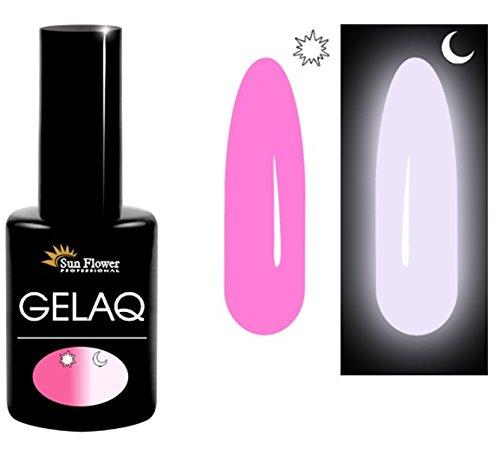 GelaQ 055 UV/LED-Soak-Off-Gel-Nagellack von Sun Flower, leuchtet im Dunkeln, hergestellt in der EU