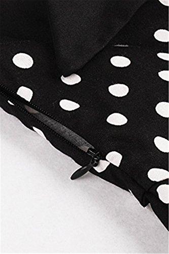 Tailloday Damen Vintage 1950er Jahre Polka Dots Swing Rockabilly Kleid Cocktailkleid XL -