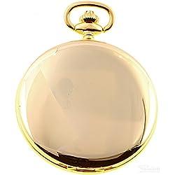 Savonnette Taschenuhr Sprungdeckel vergoldet Quarz ITRR-31902plqus