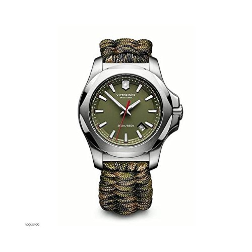 Victorinox Swiss Army Herren Analog Quarz Uhr mit Textil Armband 241727.1 (Watch Army Herren Swiss)
