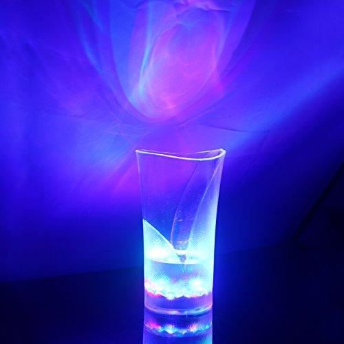 Hapurs Creative &-Tazza a forma di boccale di birra, Cola, con luce LED intermittente, LED Light-Up Drinkware Beer Mug, molto utile Atractive Charming, ABS, Colorful Driking Mag 300ml
