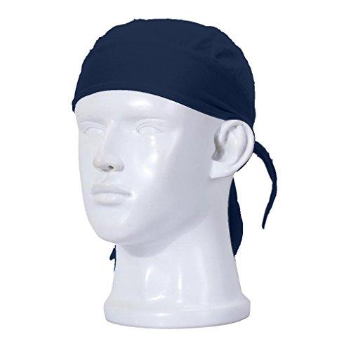 FakeFace Unisex Bandana Cap Kopftuch Kopfband Biker Hat Piratentuch in Verschiedenen Farben und Mustern Sport Fahrrad Blau