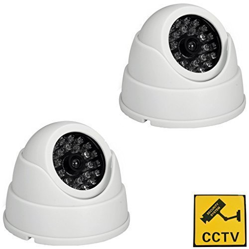 Amazon.co.uk - 2 Pack dummy dome security camera