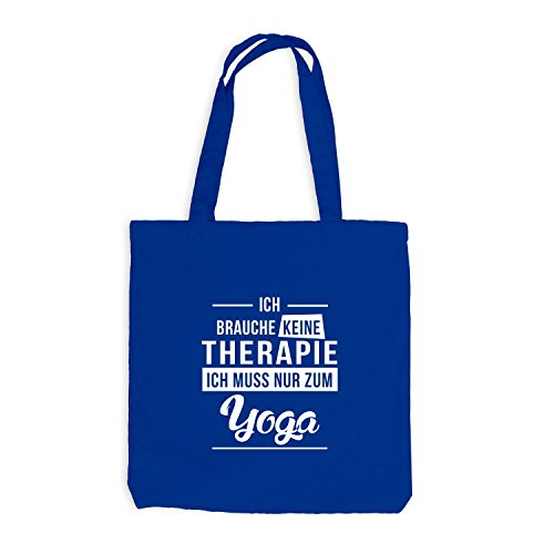 Borsa Di Juta - Non Ho Bisogno Di Terapia - Yoga Royal Blue