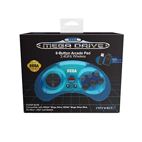 Retro-Bit Sega MD 8-B 2.4G Wl Blue - Not Machine Specific