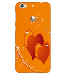 ColourCraft Loving Hearts Design Back Case Cover for LeEco Le 1S