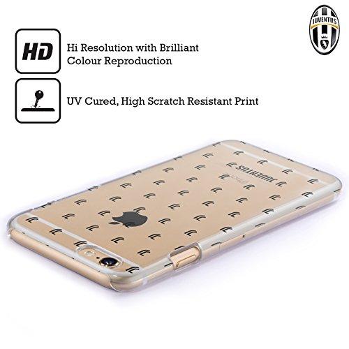 Offizielle Juventus Football Club Logomark Muster Lifestyle 2 Ruckseite Hülle für Apple iPhone 6 Plus / 6s Plus Logomark Muster 2